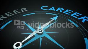 Compass pointing to career