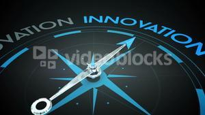 Compass pointing to innovation