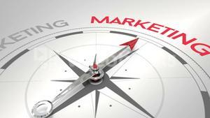 Compass pointing to marketing