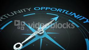 Compass pointing to opportunity