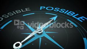 Compass pointing to possible