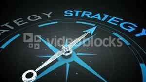 Compass pointing to strategy