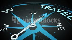 Compass pointing to travel