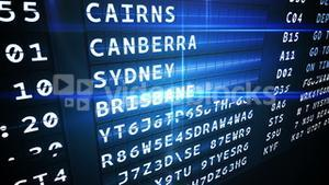 Departures board for australian cities