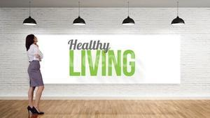 Businesswoman viewing healthy living clip
