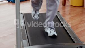 Active senior exercising