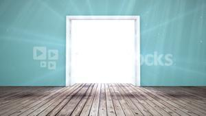 Door opening to light