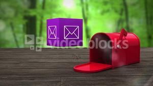 Post box opening to show at email icon