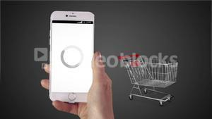 Woman shopping online on her phone