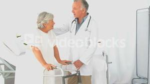 A doctor visiting a patient