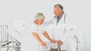 A doctor visiting his patient