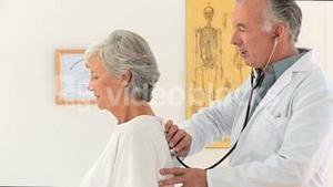 Doctor visiting his patient