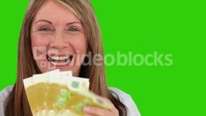 Mature woman proud of what she earned