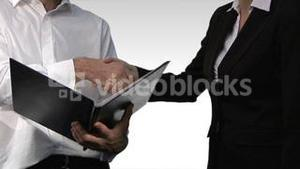 Chroma Key Footage of Two contemporary businesspeople