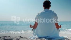 Wear view of man relaxing at the beach