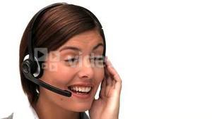 Businesswoman with an headset