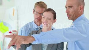 Business people working together during meeting