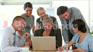 Business people working on tablet computer