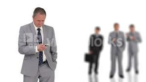 Businessman with a remote control