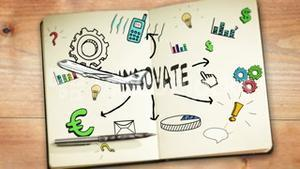 Digital animation of innovate concept