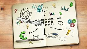 Digital animation of career concept
