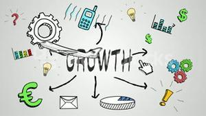 Digital animation of growth concept