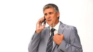 Businessman making a call