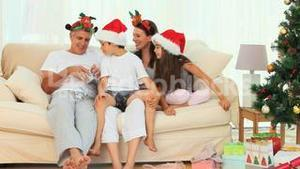 A Christmas day in a family