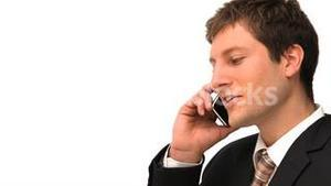 Young businessman making a phone call