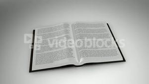 Book opening on white background