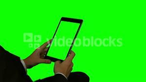 Businessman using his tablet pc
