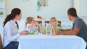 Family having a dinner together