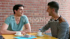 College students chatting over coffee