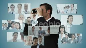 Businessman searching for new employees