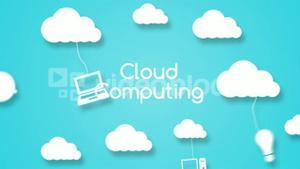 Cloud computing concept with apps
