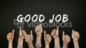 Good job with many thumbs up
