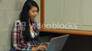 Student stressed out using her laptop