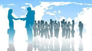 Silhouetted of Business People 3