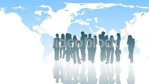 Silhouetted of Business People 4