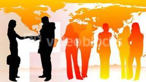 Silhouetted of Business People 5