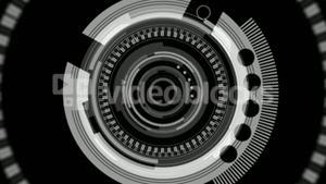 Dial interface in black and grey
