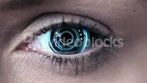 Technology code design in human eye