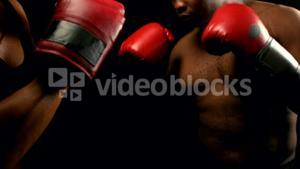 Couple boxing with each other