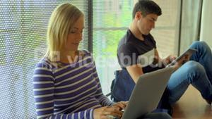 Students working together on an assignment