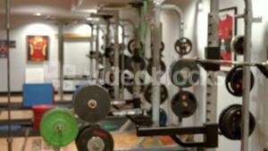 Weights room in gym