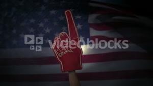 A model holding supporter foam hand