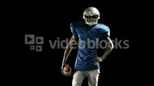 American football player playing