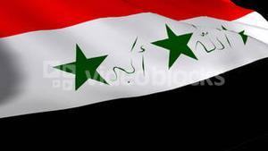 3d Render of the Iraq flag