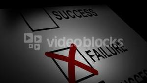Stock Animated Concept of Success and Failure