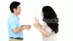 Couple not talking after arguing